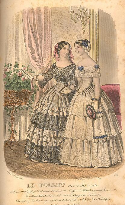 Graham's Magazine 1851 Fashion 1