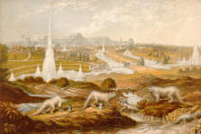 hawkins dinosaurs near crystal palace Baxter print