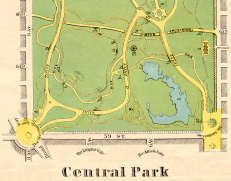 1870s Map Of Central Park (Adapted)